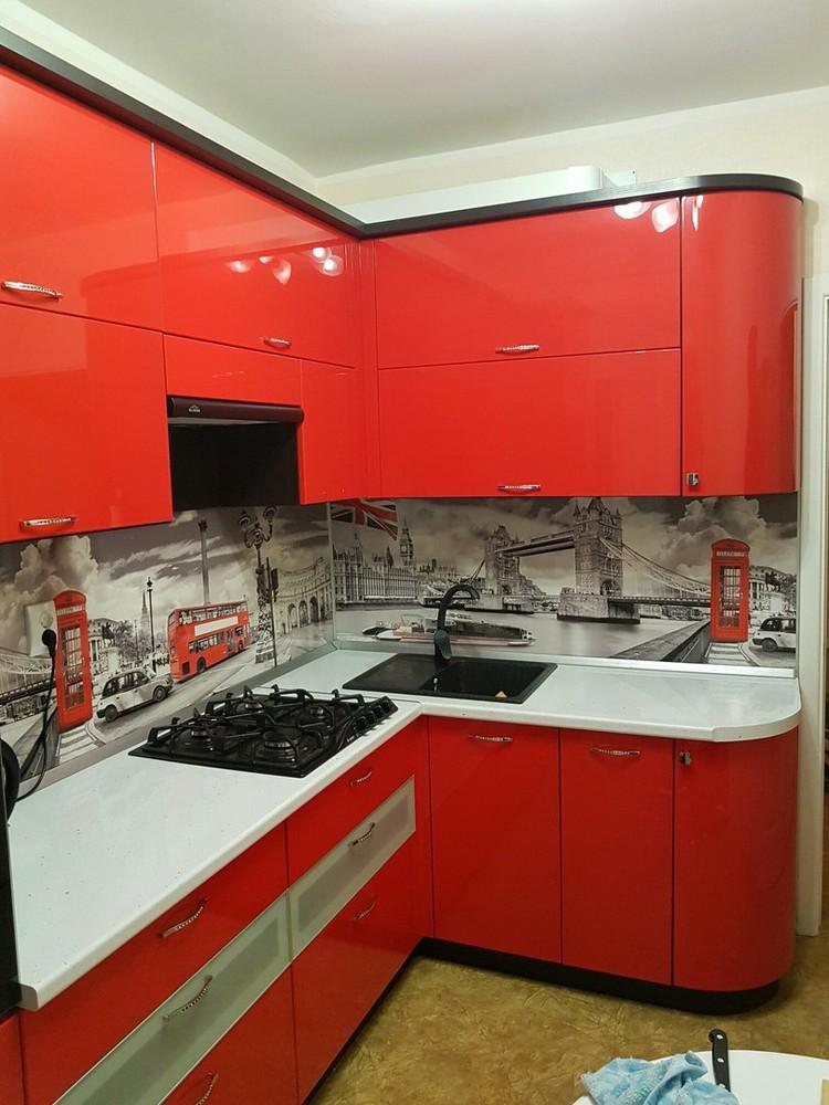Акриловые кухни-Кухня из пластика «Модель 138»-фото4