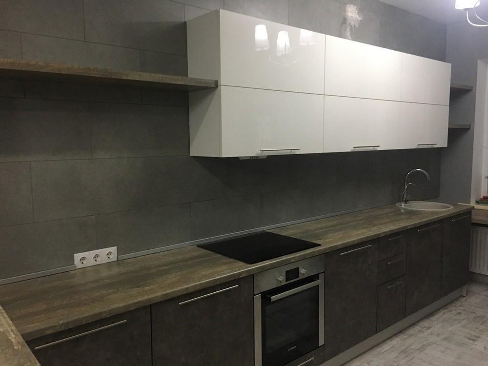 Белый кухонный гарнитур-Кухня МДФ в эмали «Модель 159»-фото2
