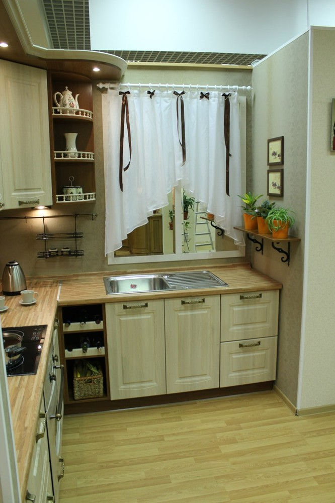 Белый кухонный гарнитур-Кухня МДФ в ПВХ «Модель 128»-фото5