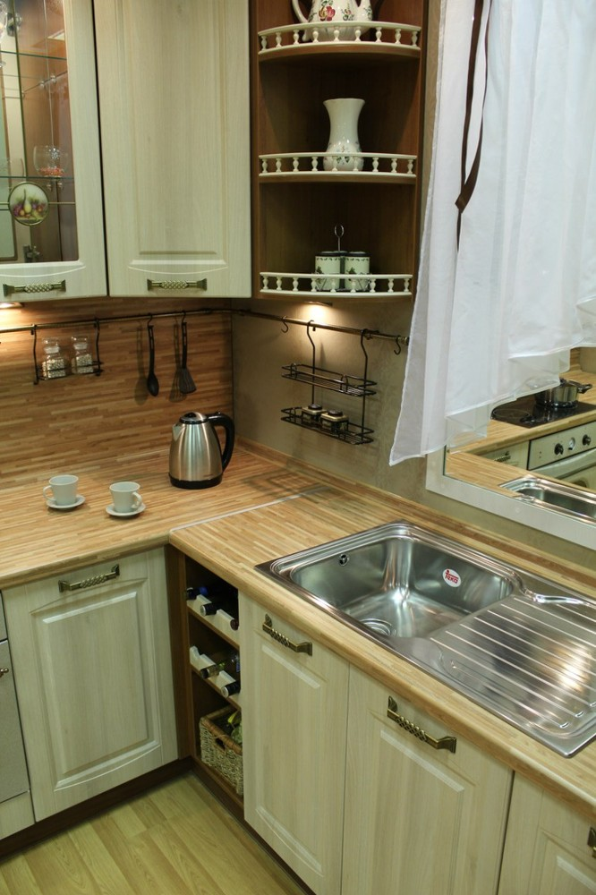 Белый кухонный гарнитур-Кухня МДФ в ПВХ «Модель 128»-фото6