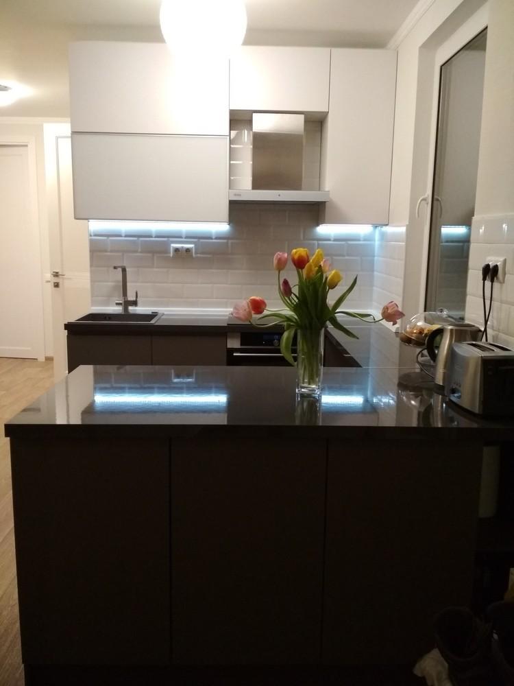 Акриловые кухни-Кухня МДФ в эмали «Модель 182»-фото9