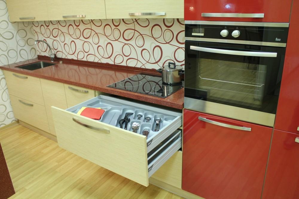 Акриловые кухни-Кухня из пластика «Модель 129»-фото9