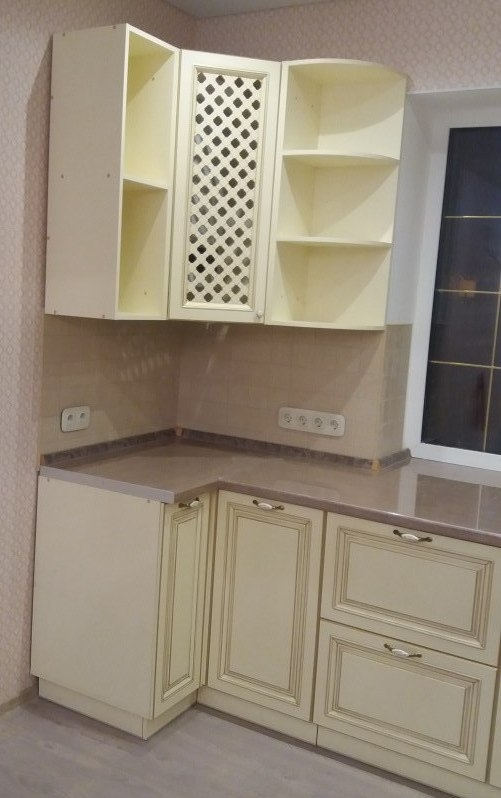 Белый кухонный гарнитур-Кухня МДФ в ПВХ «Модель 69»-фото3