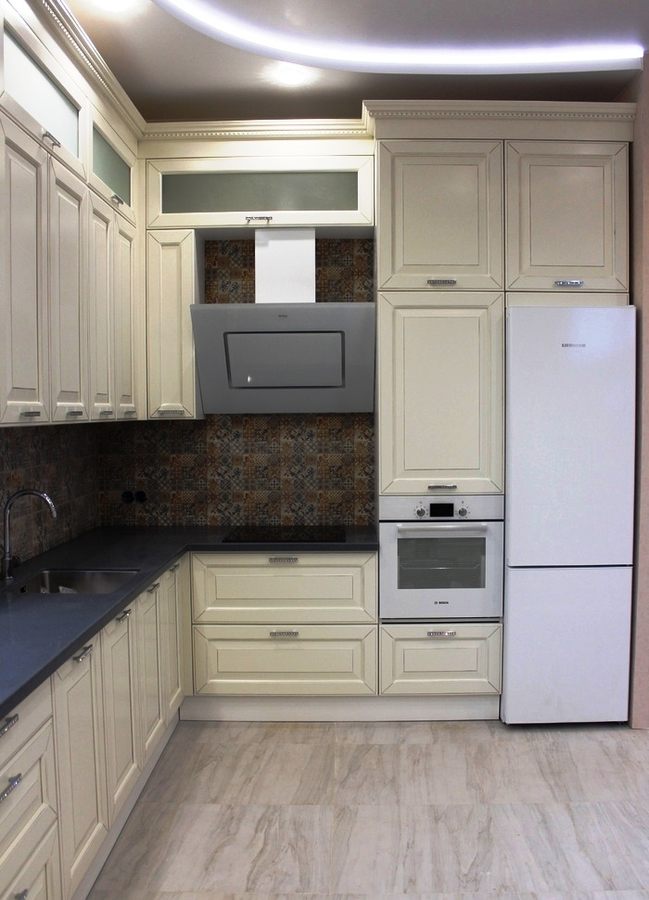 Белый кухонный гарнитур-Кухня из массива «Модель 41»-фото2