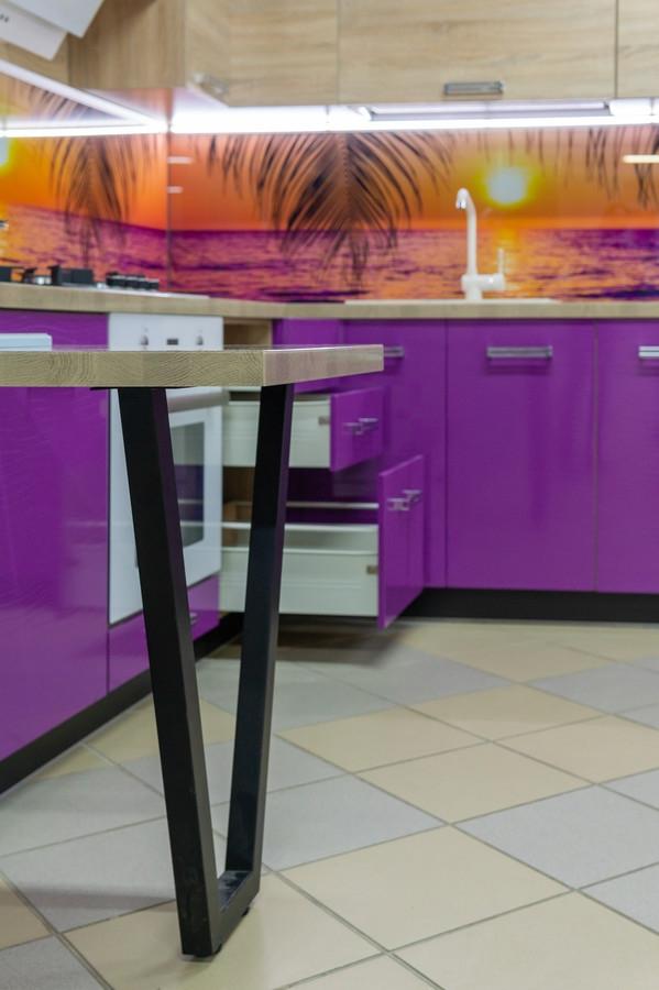 Белый кухонный гарнитур-Кухня МДФ в ПВХ «Модель 45»-фото2