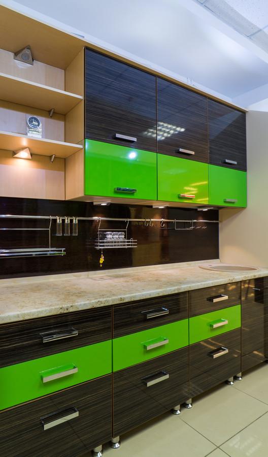 Купить зеленую кухню-Кухня из пластика «Модель 55»-фото2