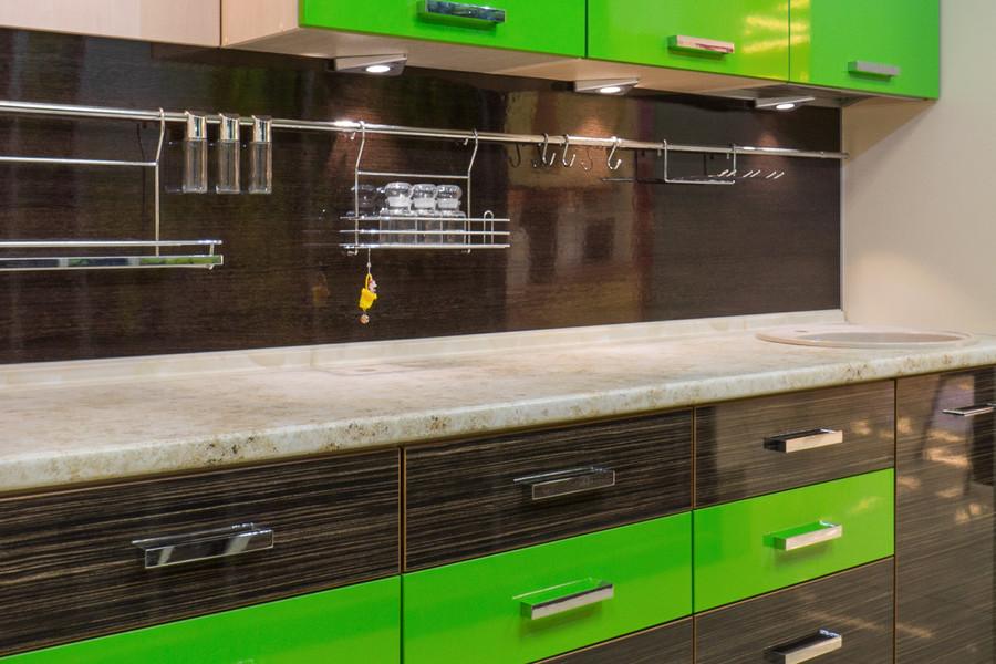 Купить зеленую кухню-Кухня из пластика «Модель 55»-фото5