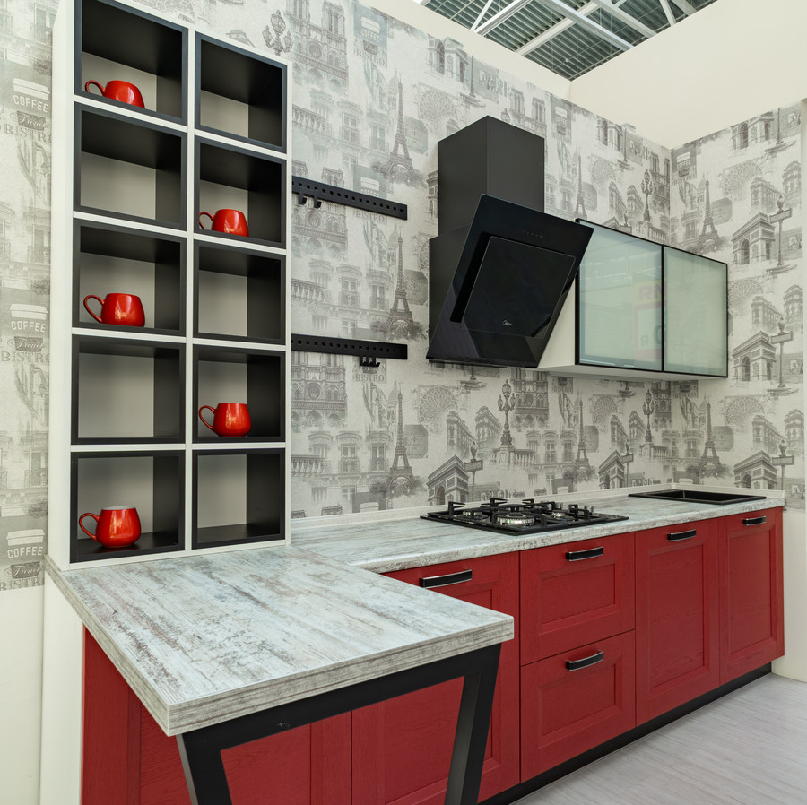 Классические кухни-Кухня МДФ в ПВХ «Модель 51»-фото3