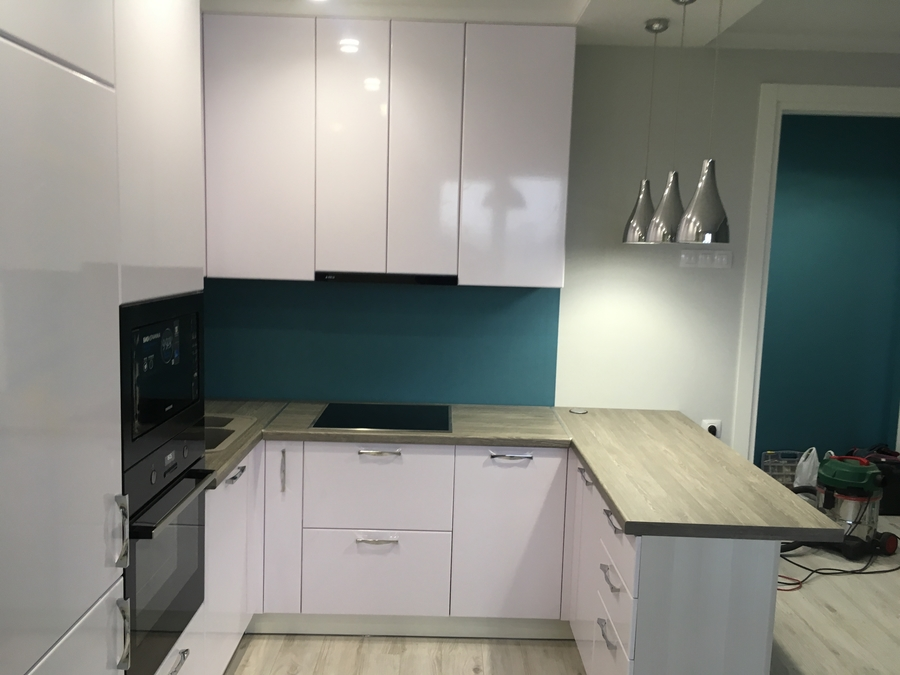 Белый кухонный гарнитур-Кухня МДФ в ПВХ «Модель 63»-фото3