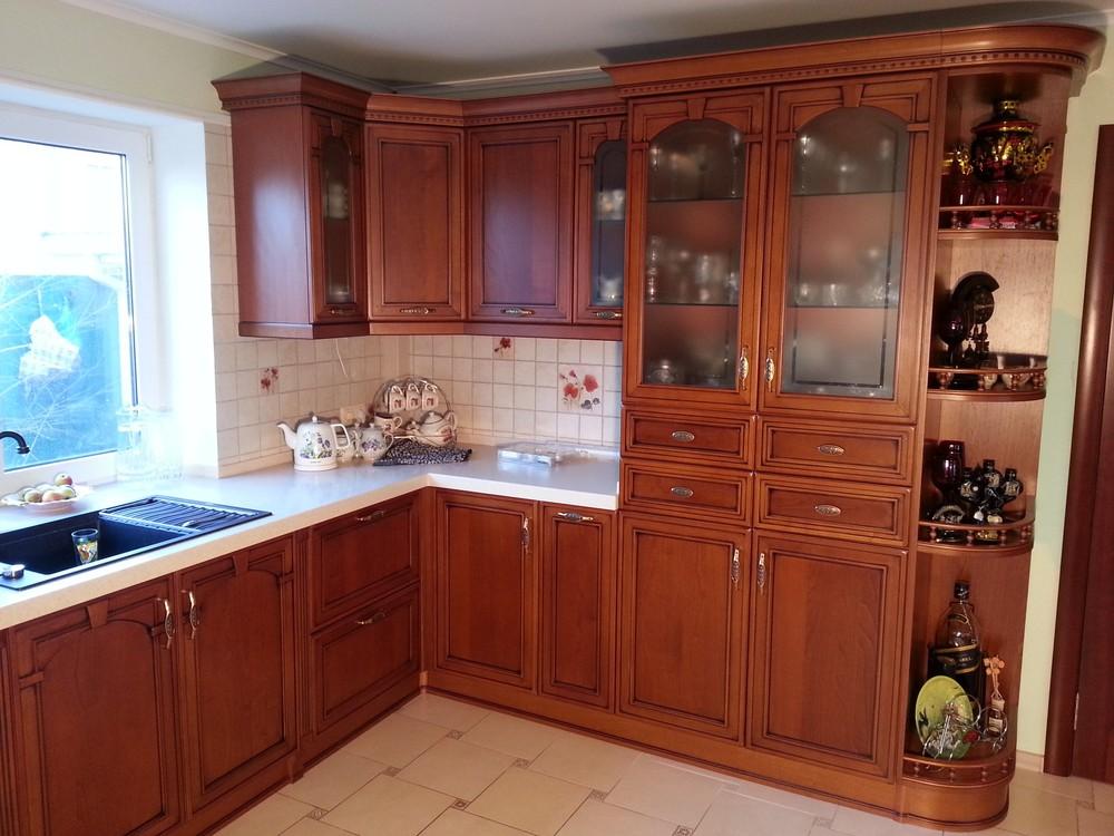 Встроенная кухня-Кухня из массива «Модель 291»-фото1