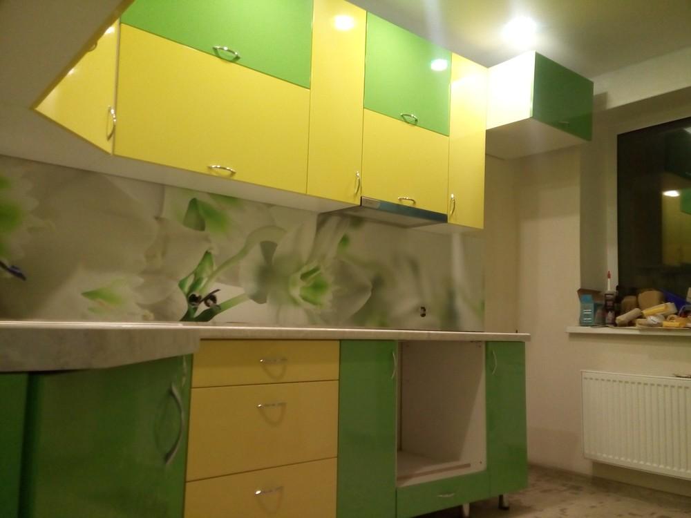 Встроенная кухня-Кухня МДФ в ПВХ «Модель 329»-фото2
