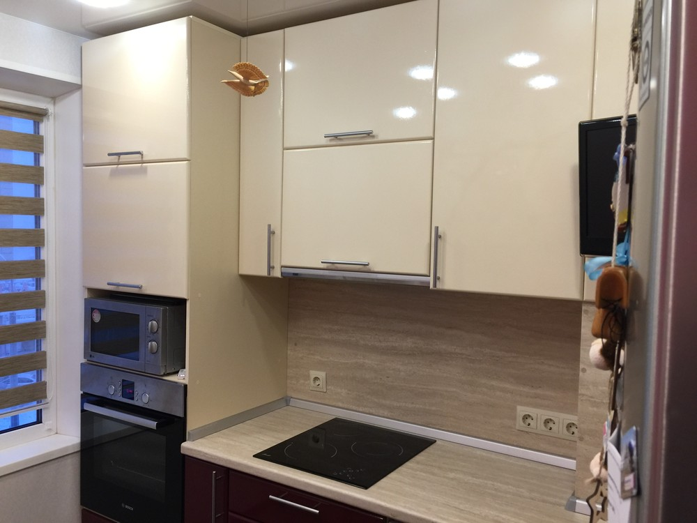 Белый кухонный гарнитур-Кухня МДФ в ПВХ «Модель 359»-фото5