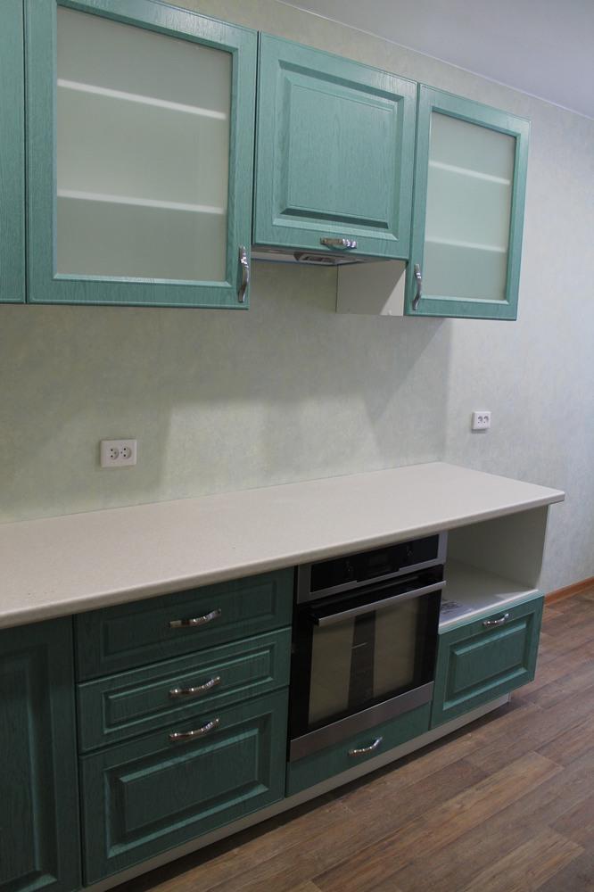 Встроенная кухня-Кухня МДФ в ПВХ «Модель 338»-фото4
