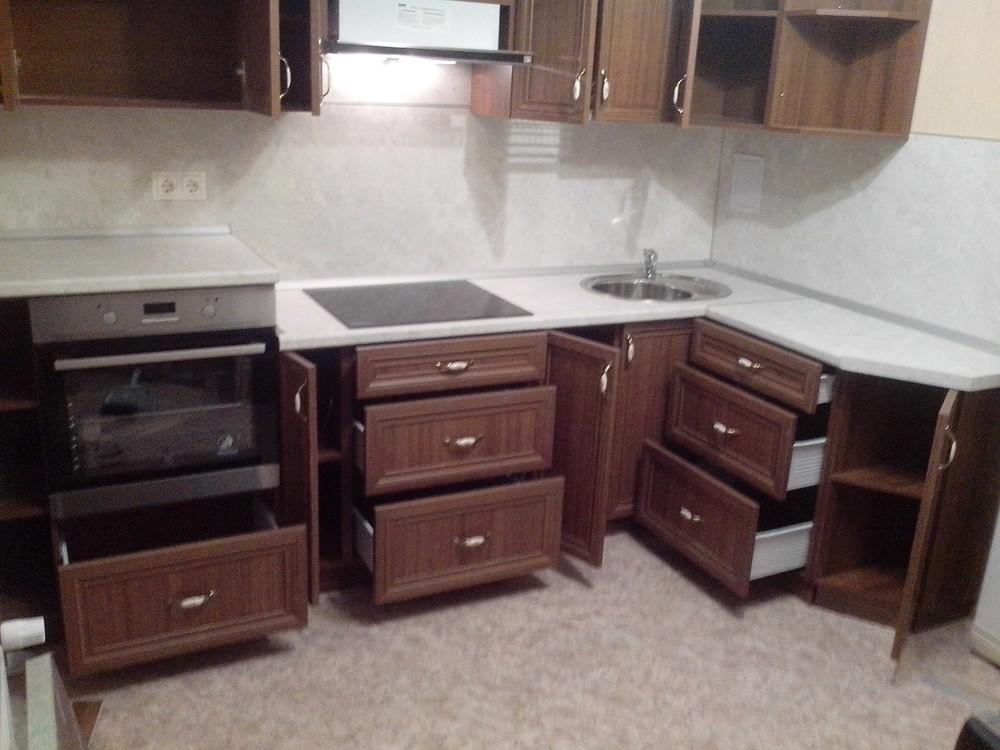 Акриловые кухни-Кухня из пластика «Модель 331»-фото2