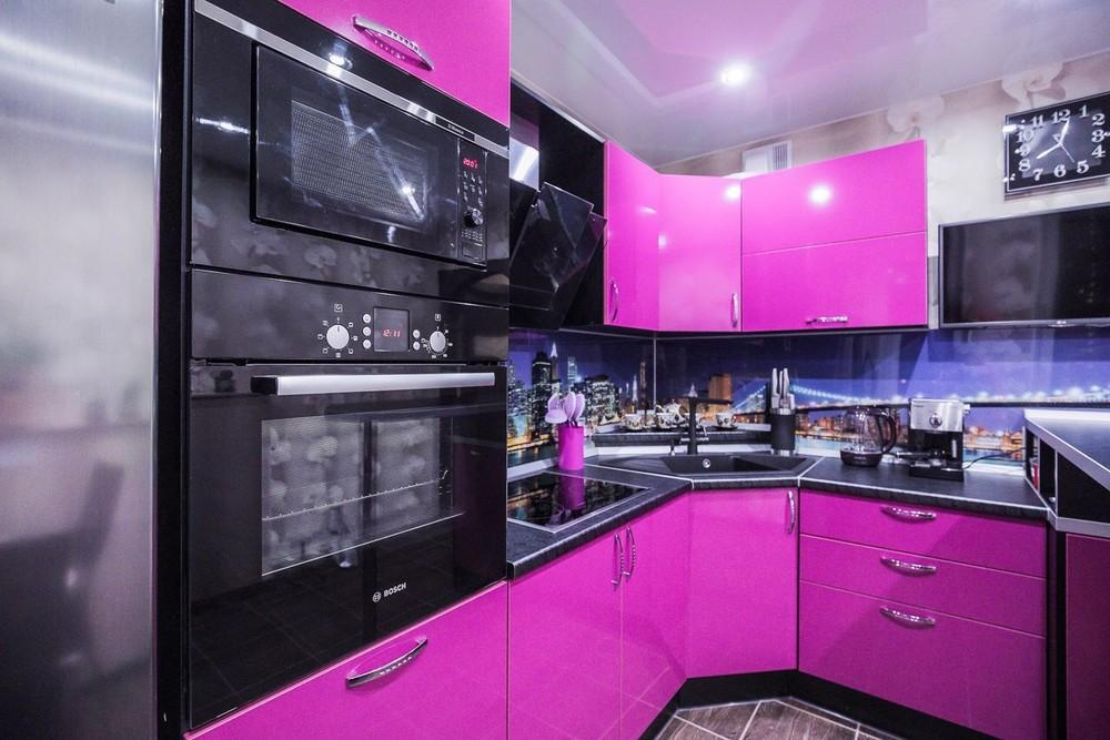 Акриловые кухни-Кухня МДФ в эмали «Модель 115»-фото7
