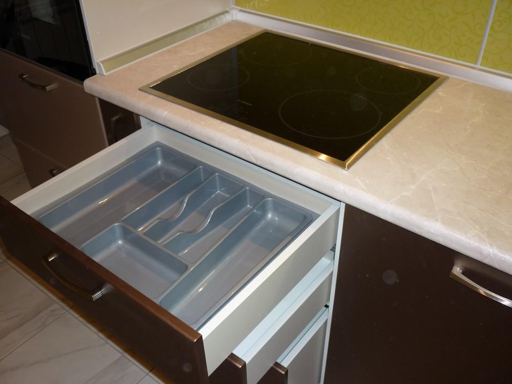 Встроенная кухня-Кухня МДФ в ПВХ «Модель 263»-фото7