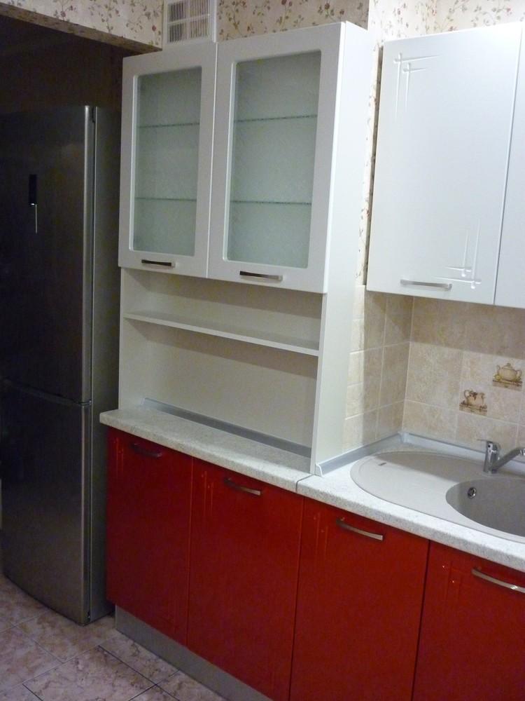 Встроенная кухня-Кухня МДФ в ПВХ «Модель 253»-фото3