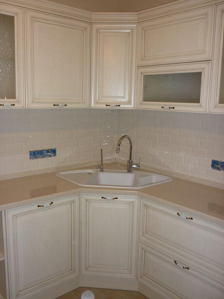 Белый кухонный гарнитур-Кухня МДФ в ПВХ «Модель 223»-фото1