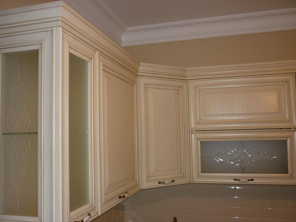 Белый кухонный гарнитур-Кухня МДФ в ПВХ «Модель 223»-фото3