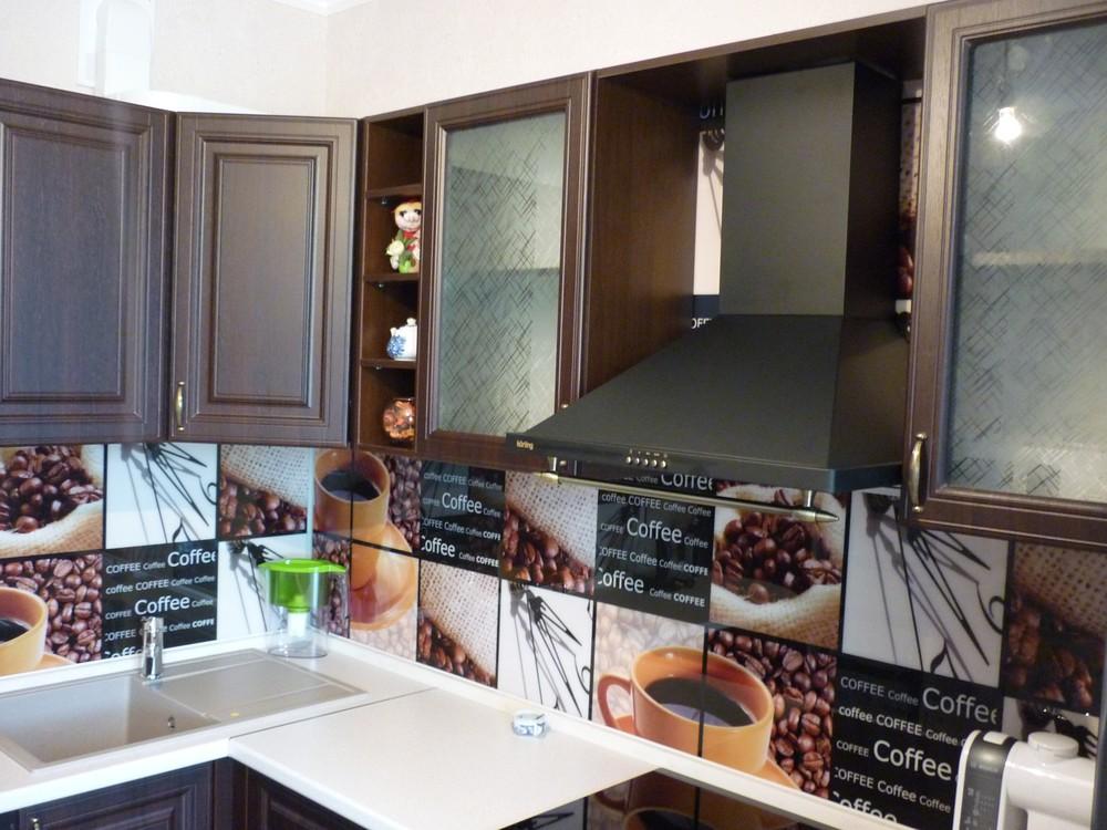 Встроенная кухня-Кухня МДФ в ПВХ «Модель 227»-фото1