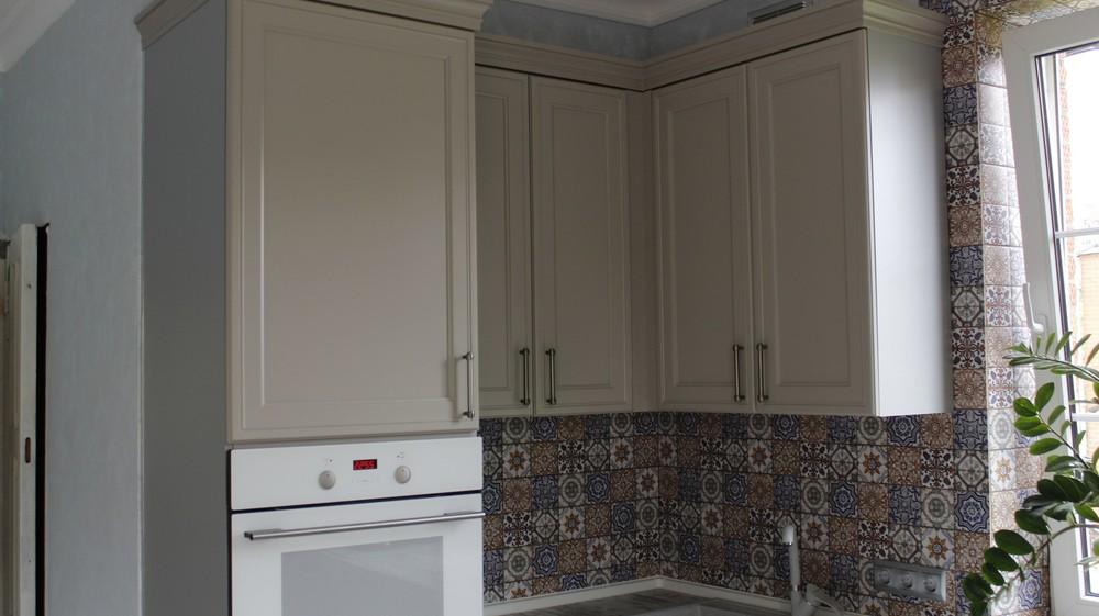 Встроенная кухня-Кухня МДФ в эмали «Модель 283»-фото6