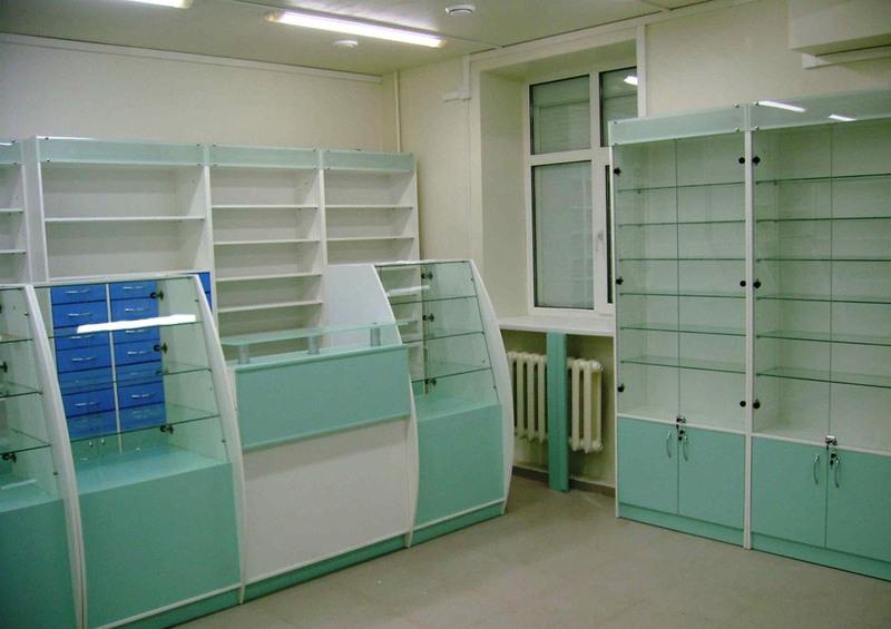 Торговая мебель-Мебель для аптеки «Модель 194»-фото3