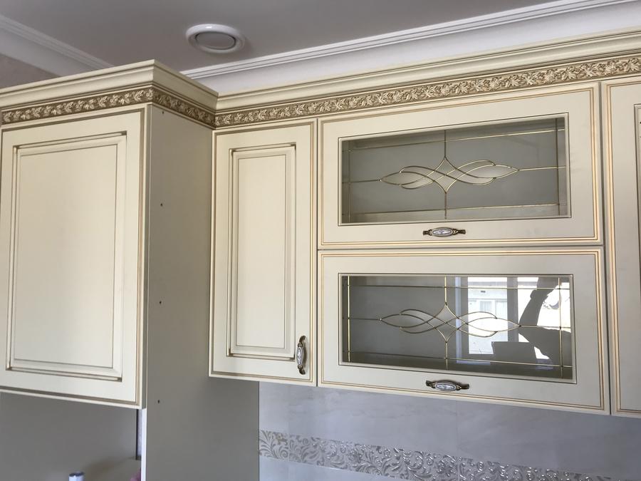 Белый кухонный гарнитур-Кухня МДФ в эмали «Модель 487»-фото8