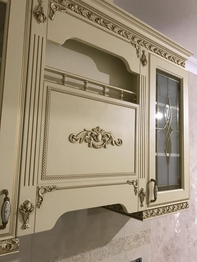 Белый кухонный гарнитур-Кухня МДФ в эмали «Модель 487»-фото6