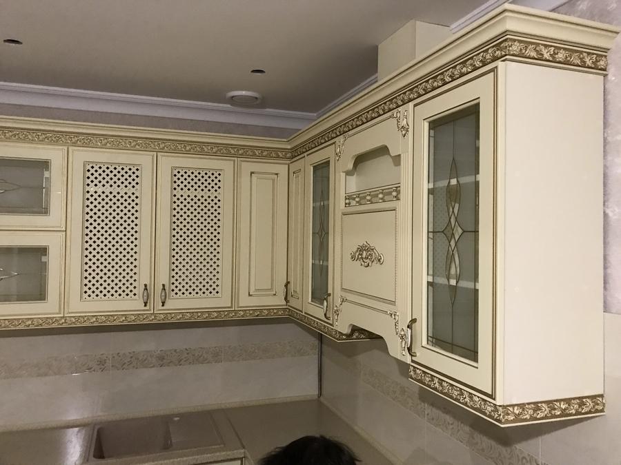 Белый кухонный гарнитур-Кухня МДФ в эмали «Модель 487»-фото4