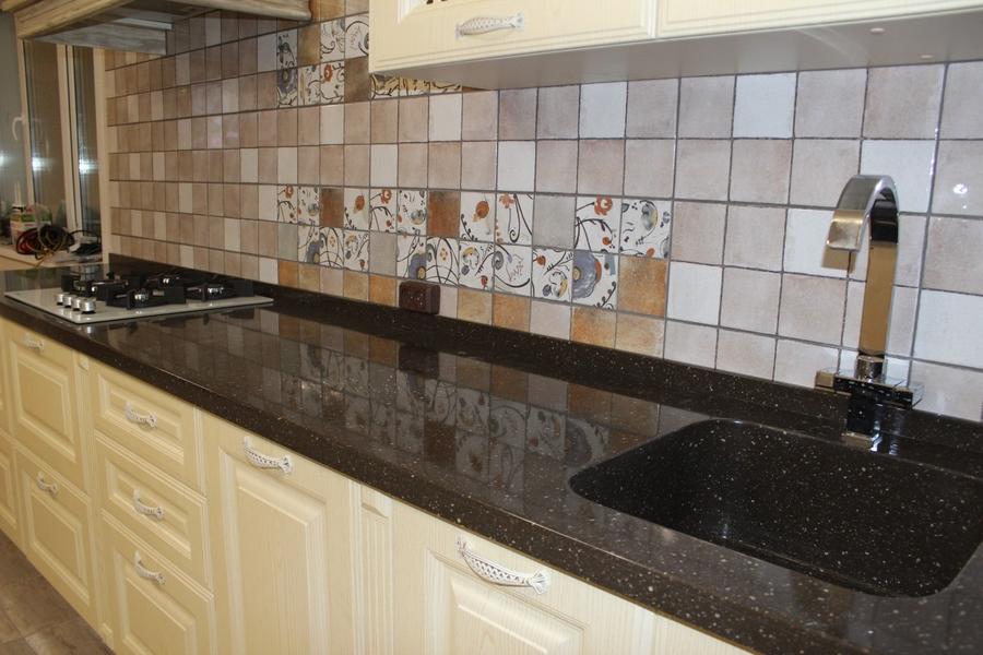 Белый кухонный гарнитур-Кухня МДФ в ПВХ «Модель 495»-фото5