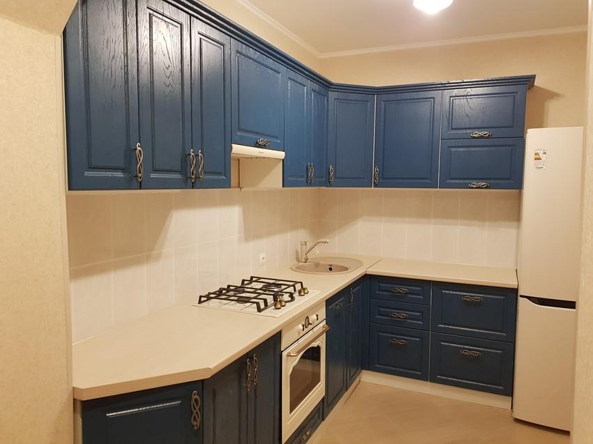 Встроенная кухня-Кухня МДФ в ПВХ «Модель 475»-фото1