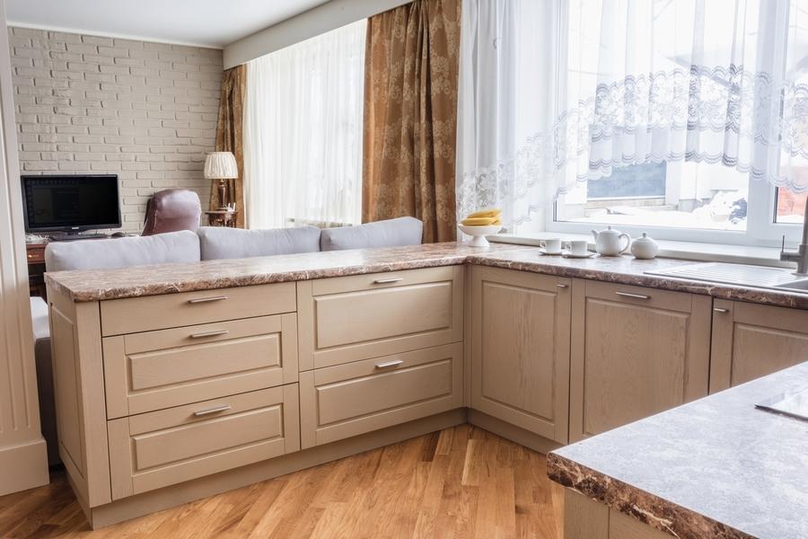 Классические кухни-Кухня из массива дуба «Модель 403»-фото2