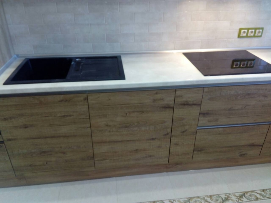 Встроенная кухня-Кухня из пластика «Модель 379»-фото4