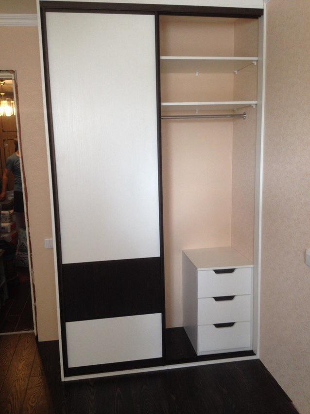 Белые шкафы-купе-Шкаф-купе из ЛДСП «Модель 497»-фото2