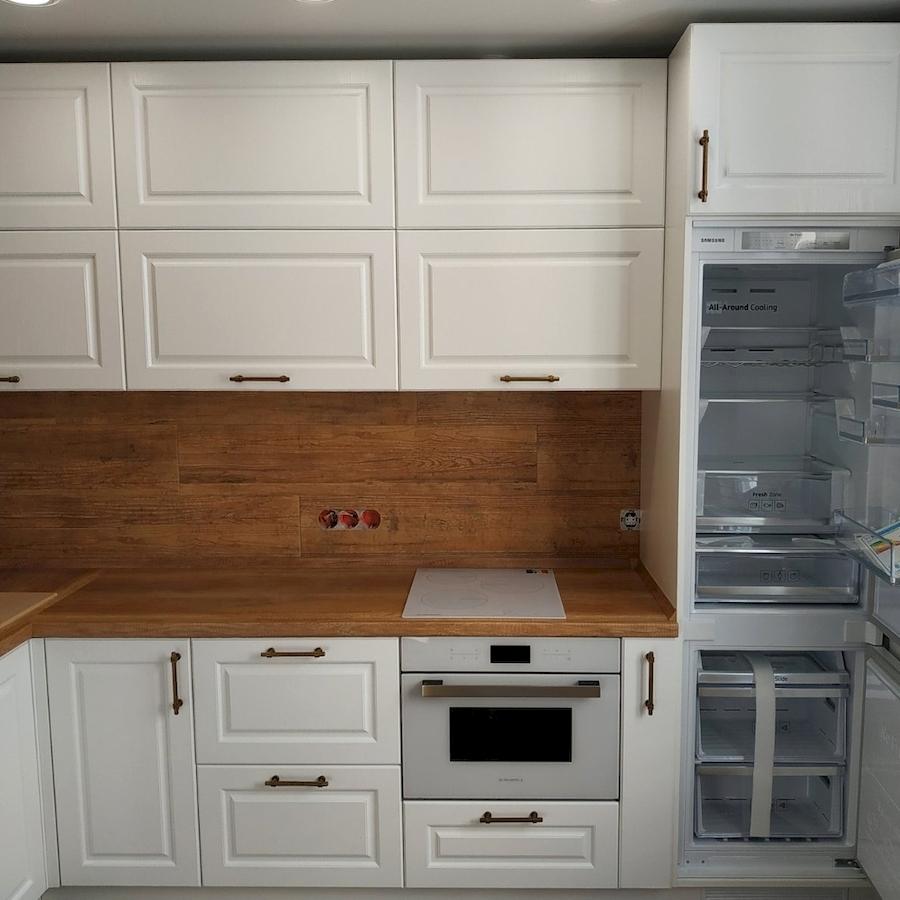Белый кухонный гарнитур-Кухня МДФ в ПВХ «Модель 597»-фото4