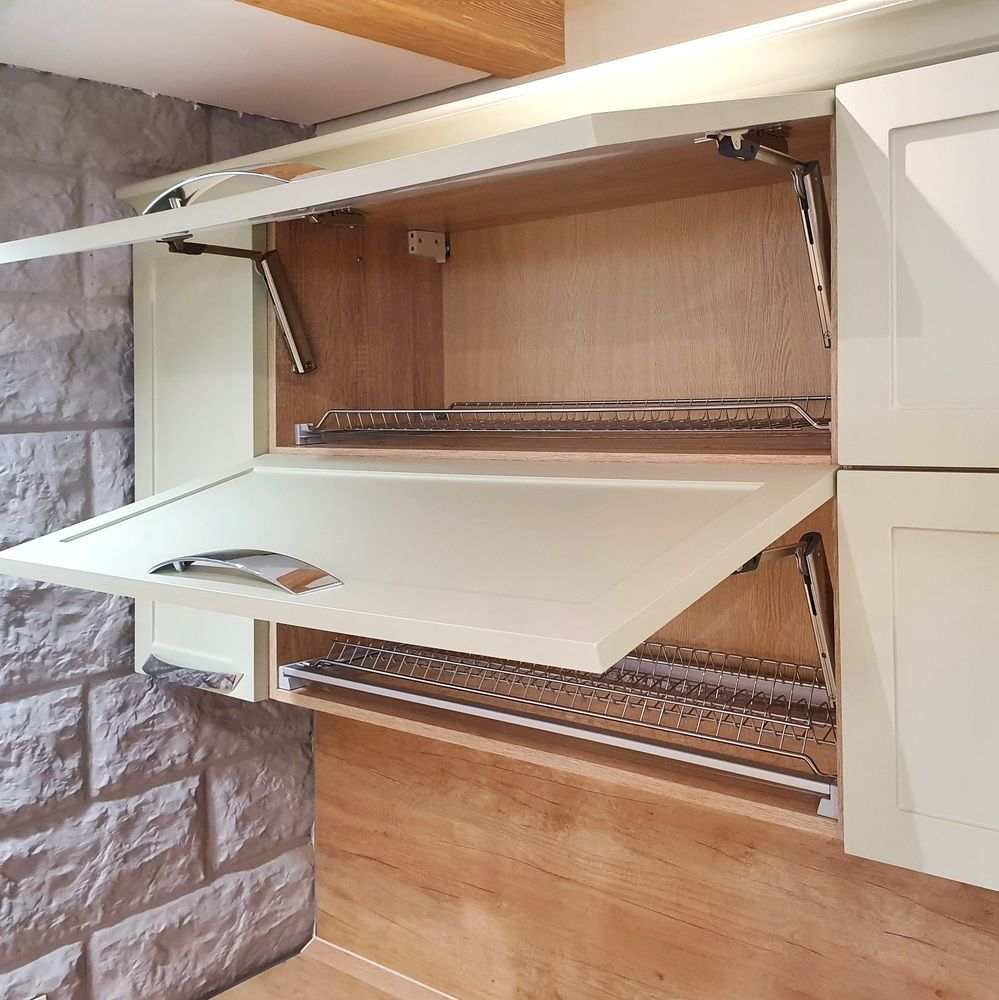 Бежевые кухни-Кухня МДФ в эмали «Модель 519»-фото5