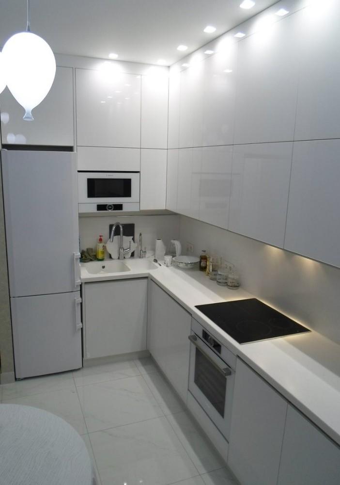 Акриловые кухни-Кухня МДФ в эмали «Модель 203»-фото3