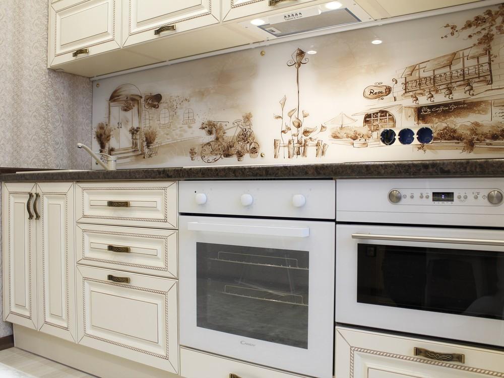 Белый кухонный гарнитур-Кухня МДФ в ПВХ «Модель 140»-фото7