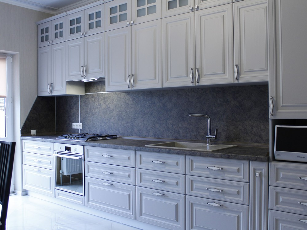 Встроенная кухня-Кухня МДФ в ПВХ «Модель 147»-фото2