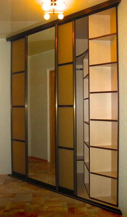 Большой шкаф-купе-Шкаф-купе с зеркалом «Модель 19»-фото2