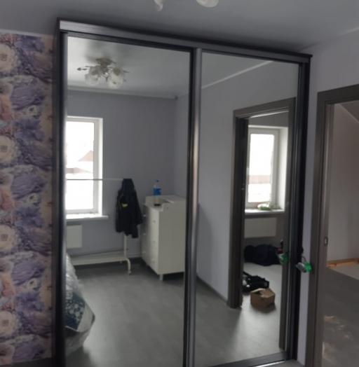 Бельевой шкаф-купе-Шкаф-купе с зеркалом «Модель 483»-фото3