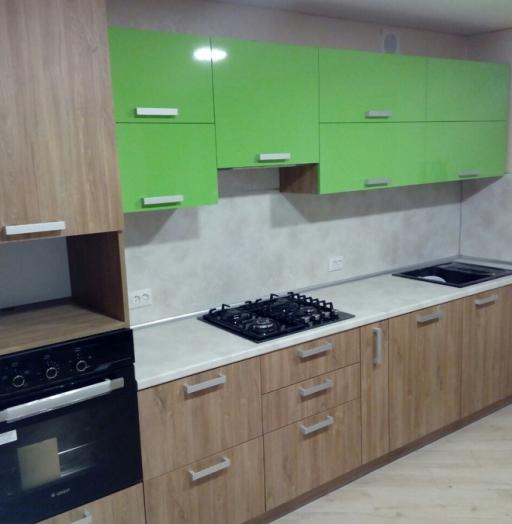 Встроенная кухня-Кухня из пластика «Модель 355»-фото5