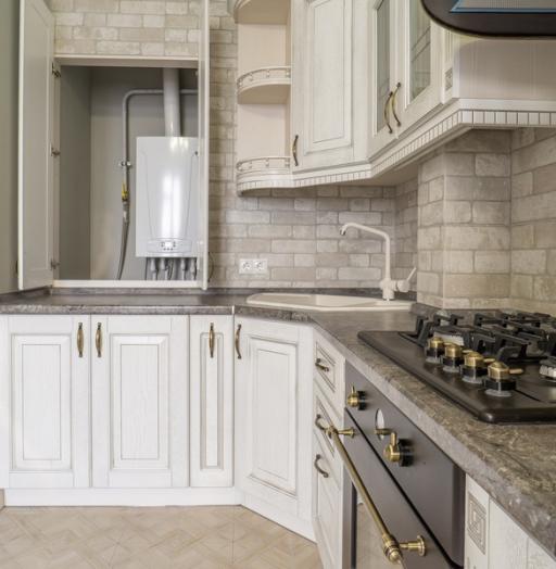 Белый кухонный гарнитур-Кухня из шпона «Модель 7»-фото12