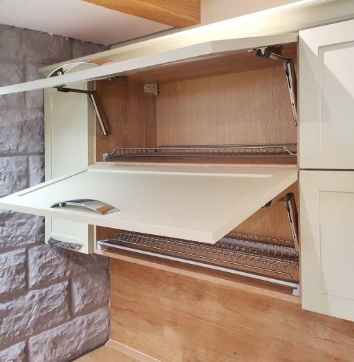 Бежевые кухни-Кухня МДФ в эмали «Модель 519»-фото8