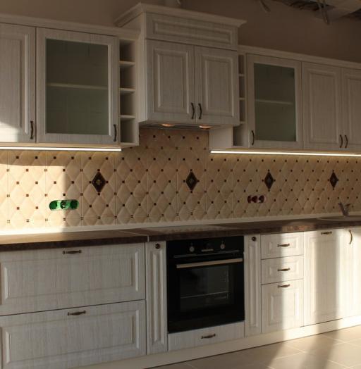 Белый кухонный гарнитур-Кухня МДФ в ПВХ «Модель 292»-фото7
